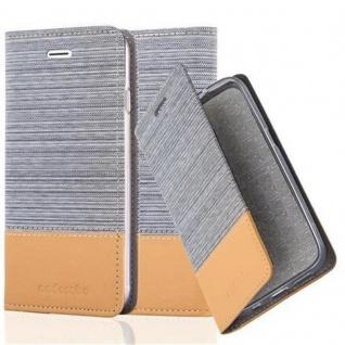 Cadorabo Hülle für Apple iPhone 7 / iPhone 7S / iPhone 8 in HELL GRAU BRAUN - Handyhülle mit Magnetverschluss, Standfunktion und Kartenfach - Case Cover Schutzhülle Etui Tasche Book Klapp Style
