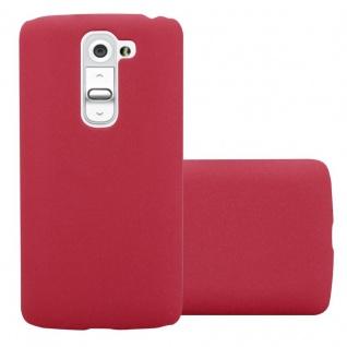 Cadorabo Hülle für LG G2 MINI in FROSTY ROT - Hardcase Handyhülle aus Plastik gegen Kratzer und Stöße - Schutzhülle Bumper Ultra Slim Back Case Hard Cover