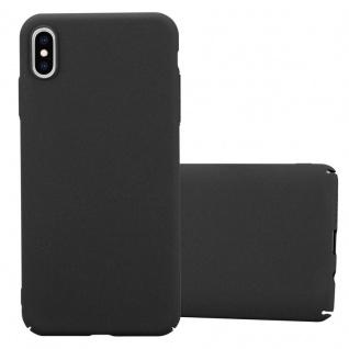 Cadorabo Hülle für Apple iPhone XS MAX in FROSTY SCHWARZ - Hardcase Handyhülle aus Plastik gegen Kratzer und Stöße - Schutzhülle Bumper Ultra Slim Back Case Hard Cover