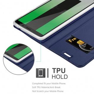 Cadorabo Hülle für Huawei MATE 10 LITE in CLASSY DUNKEL BLAU - Handyhülle mit Magnetverschluss, Standfunktion und Kartenfach - Case Cover Schutzhülle Etui Tasche Book Klapp Style - Vorschau 5
