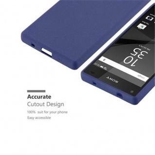 Cadorabo Hülle für Sony Xperia Z5 Compact in FROST DUNKEL BLAU - Handyhülle aus flexiblem TPU Silikon - Silikonhülle Schutzhülle Ultra Slim Soft Back Cover Case Bumper - Vorschau 3