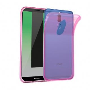Cadorabo Hülle für Huawei MATE 10 LITE in TRANSPARENT PINK - Handyhülle aus flexiblem TPU Silikon - Silikonhülle Schutzhülle Ultra Slim Soft Back Cover Case Bumper