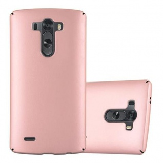 Cadorabo Hülle für LG G3 in METALL ROSE GOLD - Hardcase Handyhülle aus Plastik gegen Kratzer und Stöße - Schutzhülle Bumper Ultra Slim Back Case Hard Cover