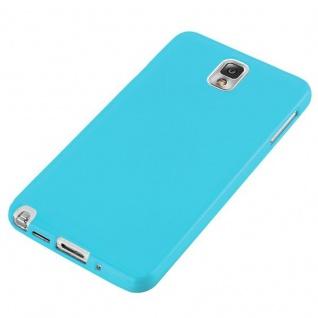 Cadorabo Hülle für Samsung Galaxy NOTE 3 in JELLY HELL BLAU ? Handyhülle aus flexiblem TPU Silikon ? Silikonhülle Schutzhülle Ultra Slim Soft Back Cover Case Bumper - Vorschau 3