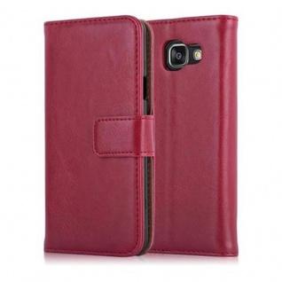 Cadorabo Hülle für Samsung Galaxy A3 2016 in WEIN ROT - Handyhülle mit Magnetverschluss, Standfunktion und Kartenfach - Case Cover Schutzhülle Etui Tasche Book Klapp Style - Vorschau 2
