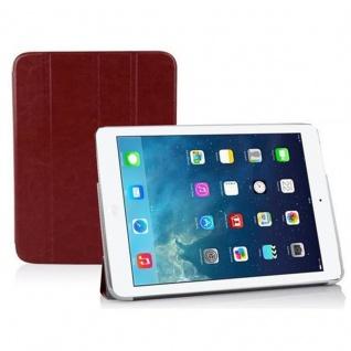 Cadorabo - Apple iPad AIR Ultra Slim Smart Cover Schutzhülle im Book Style mit Auto Wake Sleep und Standfunktion - Case Cover Bumper Etui in DATTEL BRAUN