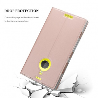 Cadorabo Hülle für Nokia Lumia 1520 in CLASSY ROSÉ GOLD - Handyhülle mit Magnetverschluss, Standfunktion und Kartenfach - Case Cover Schutzhülle Etui Tasche Book Klapp Style - Vorschau 5