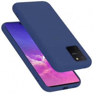 Cadorabo Hülle für Samsung Galaxy A91 / S10 LITE / M80S in LIQUID BLAU Handyhülle aus flexiblem TPU Silikon Silikonhülle Schutzhülle Ultra Slim Soft Back Cover Case Bumper