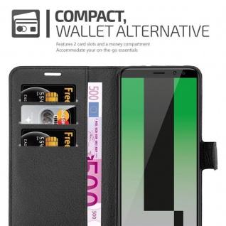 Cadorabo Hülle für Huawei MATE 10 LITE in PHANTOM SCHWARZ - Handyhülle mit Magnetverschluss, Standfunktion und Kartenfach - Case Cover Schutzhülle Etui Tasche Book Klapp Style - Vorschau 4