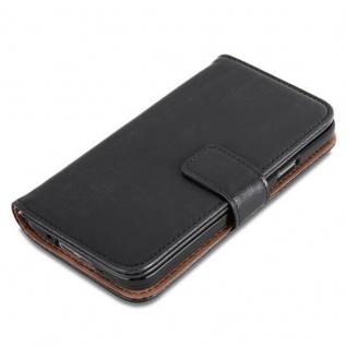 Cadorabo Hülle für Samsung Galaxy S5 / S5 NEO in GRAPHIT SCHWARZ ? Handyhülle mit Magnetverschluss, Standfunktion und Kartenfach ? Case Cover Schutzhülle Etui Tasche Book Klapp Style - Vorschau 2