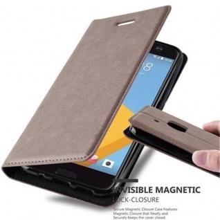 Cadorabo Hülle für HTC 10 (One M10) in KAFFEE BRAUN - Handyhülle mit Magnetverschluss, Standfunktion und Kartenfach - Case Cover Schutzhülle Etui Tasche Book Klapp Style
