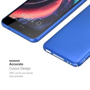 Cadorabo Hülle für HTC Desire 10 Lifestyle / Desire 825 in METALL BLAU ? Hardcase Handyhülle aus Plastik gegen Kratzer und Stöße ? Schutzhülle Bumper Ultra Slim Back Case Hard Cover - Vorschau 5