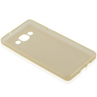 Cadorabo Hülle für Samsung Galaxy A5 2015 in TRANSPARENT GOLD - Handyhülle aus flexiblem TPU Silikon - Silikonhülle Schutzhülle Ultra Slim Soft Back Cover Case Bumper - Vorschau 5
