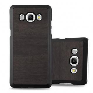 Cadorabo Hülle für Samsung Galaxy J5 2016 in WOODY SCHWARZ Hardcase Handyhülle aus Plastik gegen Kratzer und Stöße Schutzhülle Bumper Ultra Slim Back Case Hard Cover