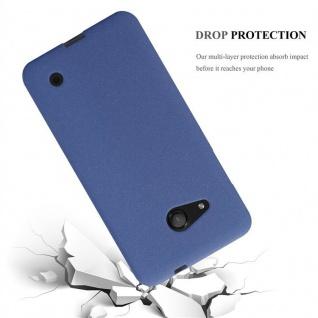 Cadorabo Hülle für Nokia Lumia 550 in FROST DUNKEL BLAU - Handyhülle aus flexiblem TPU Silikon - Silikonhülle Schutzhülle Ultra Slim Soft Back Cover Case Bumper - Vorschau 3
