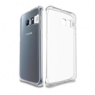 Cadorabo Hülle für Samsung Galaxy S6 - Hülle in STAR TRANSPARENT - Handyhülle aus TPU Silikon im LED-Blitzlicht-Design - Silikonhülle Schutzhülle Ultra Slim Soft Back Cover Case Bumper