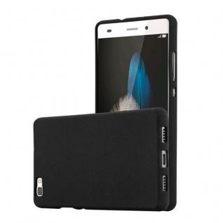 Cadorabo Hülle für Huawei P8 LITE 2015 in FROST SCHWARZ - Handyhülle aus flexiblem TPU Silikon - Silikonhülle Schutzhülle Ultra Slim Soft Back Cover Case Bumper