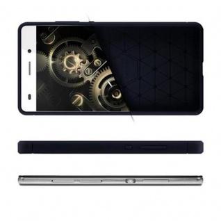 Cadorabo Hülle für Huawei P8 LITE 2015 - Hülle in BRUSHED BLAU - Handyhülle aus TPU Silikon in Edelstahl-Karbonfaser Optik - Silikonhülle Schutzhülle Ultra Slim Soft Back Cover Case Bumper - Vorschau 4