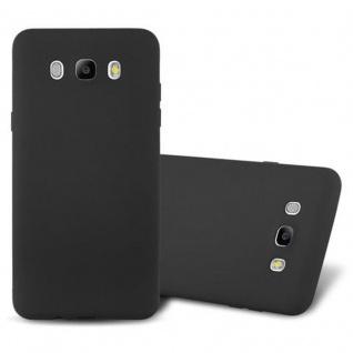 Cadorabo Hülle für Samsung Galaxy J7 2016 in FROST SCHWARZ - Handyhülle aus flexiblem TPU Silikon - Silikonhülle Schutzhülle Ultra Slim Soft Back Cover Case Bumper