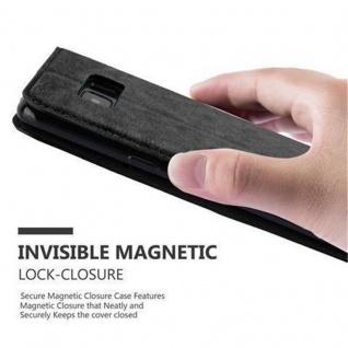Cadorabo Hülle für Samsung Galaxy S8 in NACHT SCHWARZ - Handyhülle mit Magnetverschluss, Standfunktion und Kartenfach - Case Cover Schutzhülle Etui Tasche Book Klapp Style - Vorschau 5