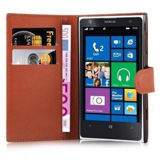 Cadorabo Hülle für Nokia Lumia 1020 in SCHOKO BRAUN - Handyhülle mit Magnetverschluss, Standfunktion und Kartenfach - Case Cover Schutzhülle Etui Tasche Book Klapp Style - Vorschau 2
