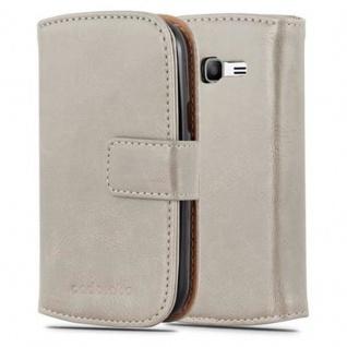 Cadorabo Hülle für Samsung Galaxy TREND LITE in CAPPUCINO BRAUN - Handyhülle mit Magnetverschluss, Standfunktion und Kartenfach - Case Cover Schutzhülle Etui Tasche Book Klapp Style