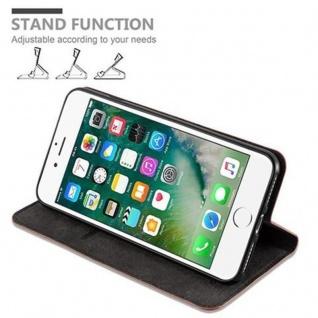 Cadorabo Hülle für Apple iPhone 8 PLUS / 7 PLUS / 7S PLUS in CAPPUCCINO BRAUN - Handyhülle mit Magnetverschluss, Standfunktion und Kartenfach - Case Cover Schutzhülle Etui Tasche Book Klapp Style - Vorschau 5