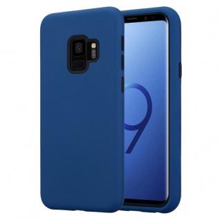 Cadorabo Hülle für Samsung Galaxy S9 in DUNKEL BLAU Hybrid Handyhülle mit TPU Silikon Innenseite und 2teiliger Kunststoff Außenseite Schutzhülle Hybrid Hardcase Back Case