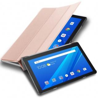 "Cadorabo Tablet Hülle für Lenovo Tab M10 (10, 1"" Zoll) in PASTELL ROSÉ GOLD Ultra Dünne Book Style Schutzhülle OHNE Auto Wake Up und Standfunktion aus Kunstleder"