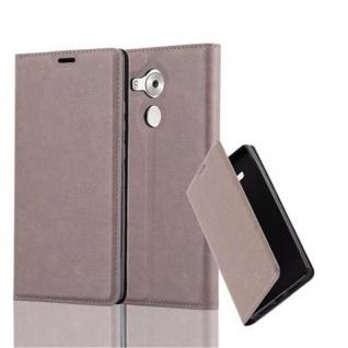 Cadorabo Hülle für Huawei MATE 8 in KAFFEE BRAUN - Handyhülle mit Magnetverschluss, Standfunktion und Kartenfach - Case Cover Schutzhülle Etui Tasche Book Klapp Style