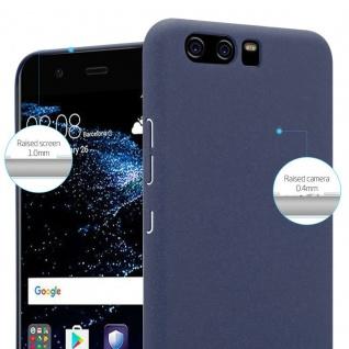 Cadorabo Hülle für Huawei P10 in FROSTY BLAU - Hardcase Handyhülle aus Plastik gegen Kratzer und Stöße - Schutzhülle Bumper Ultra Slim Back Case Hard Cover - Vorschau 3