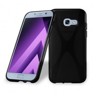 Cadorabo Hülle für Samsung Galaxy A3 2017 in OXID SCHWARZ ? Handyhülle aus flexiblem TPU Silikon ? Silikonhülle Schutzhülle Ultra Slim Soft Back Cover Case Bumper