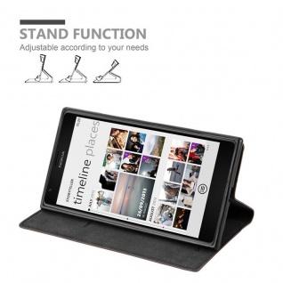 Cadorabo Hülle für Nokia Lumia 1520 in KAFFEE BRAUN - Handyhülle mit Magnetverschluss, Standfunktion und Kartenfach - Case Cover Schutzhülle Etui Tasche Book Klapp Style - Vorschau 3