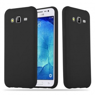 Cadorabo Hülle für Samsung Galaxy J5 2015 in CANDY SCHWARZ - Handyhülle aus flexiblem TPU Silikon - Silikonhülle Schutzhülle Ultra Slim Soft Back Cover Case Bumper