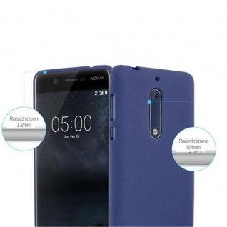 Cadorabo Hülle für Nokia 5 2017 in FROST DUNKEL BLAU - Handyhülle aus flexiblem TPU Silikon - Silikonhülle Schutzhülle Ultra Slim Soft Back Cover Case Bumper - Vorschau 5
