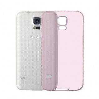 Cadorabo Hülle für Samsung Galaxy S5 / S5 NEO - Hülle in TRANSPARENT ROSA ? Handyhülle aus TPU Silikon im Strass Design - Silikonhülle Schutzhülle Ultra Slim Soft Back Cover Case Bumper - Vorschau 3