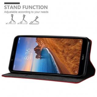 Cadorabo Hülle für Xiaomi RedMi 7A in APFEL ROT Handyhülle mit Magnetverschluss, Standfunktion und Kartenfach Case Cover Schutzhülle Etui Tasche Book Klapp Style - Vorschau 3