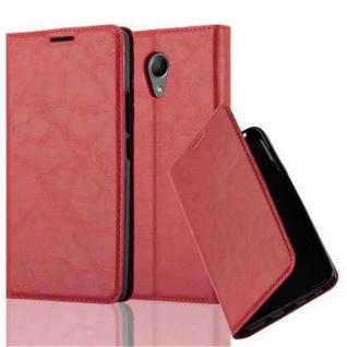 Cadorabo Hülle für WIKO ROBBY in APFEL ROT - Handyhülle mit Magnetverschluss, Standfunktion und Kartenfach - Case Cover Schutzhülle Etui Tasche Book Klapp Style
