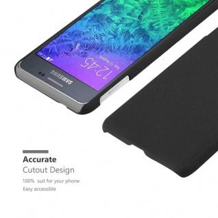 Cadorabo Hülle für Samsung Galaxy ALPHA in FROSTY SCHWARZ - Hardcase Handyhülle aus Plastik gegen Kratzer und Stöße - Schutzhülle Bumper Ultra Slim Back Case Hard Cover - Vorschau 5