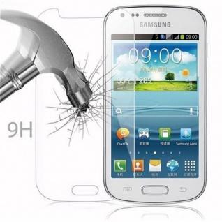 Cadorabo Panzer Folie für Samsung Galaxy TREND DUOS - Schutzfolie in KRISTALL KLAR - Gehärtetes (Tempered) Display-Schutzglas in 9H Härte mit 3D Touch Kompatibilität - Vorschau 3