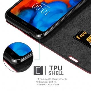 Cadorabo Hülle für LG Q Stylus in APFEL ROT Handyhülle mit Magnetverschluss, Standfunktion und Kartenfach Case Cover Schutzhülle Etui Tasche Book Klapp Style - Vorschau 2