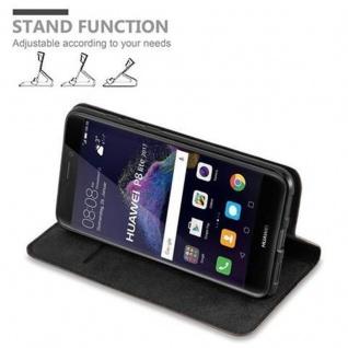 Cadorabo Hülle für Huawei P8 LITE 2017 in KAFFEE BRAUN - Handyhülle mit Magnetverschluss, Standfunktion und Kartenfach - Case Cover Schutzhülle Etui Tasche Book Klapp Style - Vorschau 4