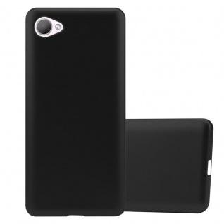 Cadorabo Hülle für HTC Desire 12 in METALLIC SCHWARZ - Handyhülle aus flexiblem TPU Silikon - Silikonhülle Schutzhülle Ultra Slim Soft Back Cover Case Bumper