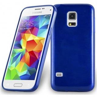 Cadorabo Hülle für Samsung Galaxy S5 MINI / S5 MINI DUOS in BLAU - Handyhülle aus flexiblem TPU Silikon - Silikonhülle Schutzhülle Ultra Slim Soft Back Cover Case Bumper
