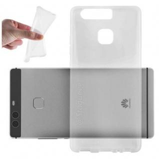 Cadorabo Hülle für Huawei P9 in VOLL TRANSPARENT - Handyhülle aus flexiblem TPU Silikon - Silikonhülle Schutzhülle Ultra Slim Soft Back Cover Case Bumper