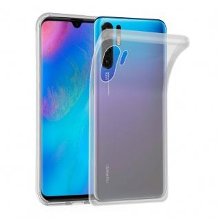 Cadorabo Hülle für Huawei P30 PRO in VOLL TRANSPARENT - Handyhülle aus flexiblem TPU Silikon - Silikonhülle Schutzhülle Ultra Slim Soft Back Cover Case Bumper