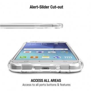 Cadorabo Hülle für Samsung Galaxy J7 2015 (5) - Hülle in KOMPLETT TRANSPARENT - Handyhülle aus TPU Silikon mit Schlaufe im Small Waist Design - Silikonhülle Schutzhülle Ultra Slim Soft Back Cover Case Bumper - Vorschau 5