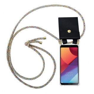 Cadorabo Handy Kette für LG G6 in RAINBOW - Silikon Necklace Umhänge Hülle mit Gold Ringen, Kordel Band Schnur und abnehmbarem Etui ? Schutzhülle
