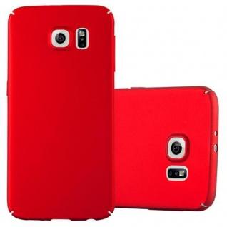 Cadorabo Hülle für Samsung Galaxy S6 in METALL ROT - Hardcase Handyhülle aus Plastik gegen Kratzer und Stöße - Schutzhülle Bumper Ultra Slim Back Case Hard Cover