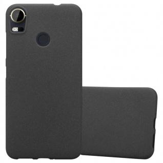 Cadorabo Hülle für HTC Desire 10 PRO in FROST SCHWARZ - Handyhülle aus flexiblem TPU Silikon - Silikonhülle Schutzhülle Ultra Slim Soft Back Cover Case Bumper
